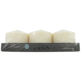 "Ivory Pillar Candles Value Pack - 3"" x 3"""